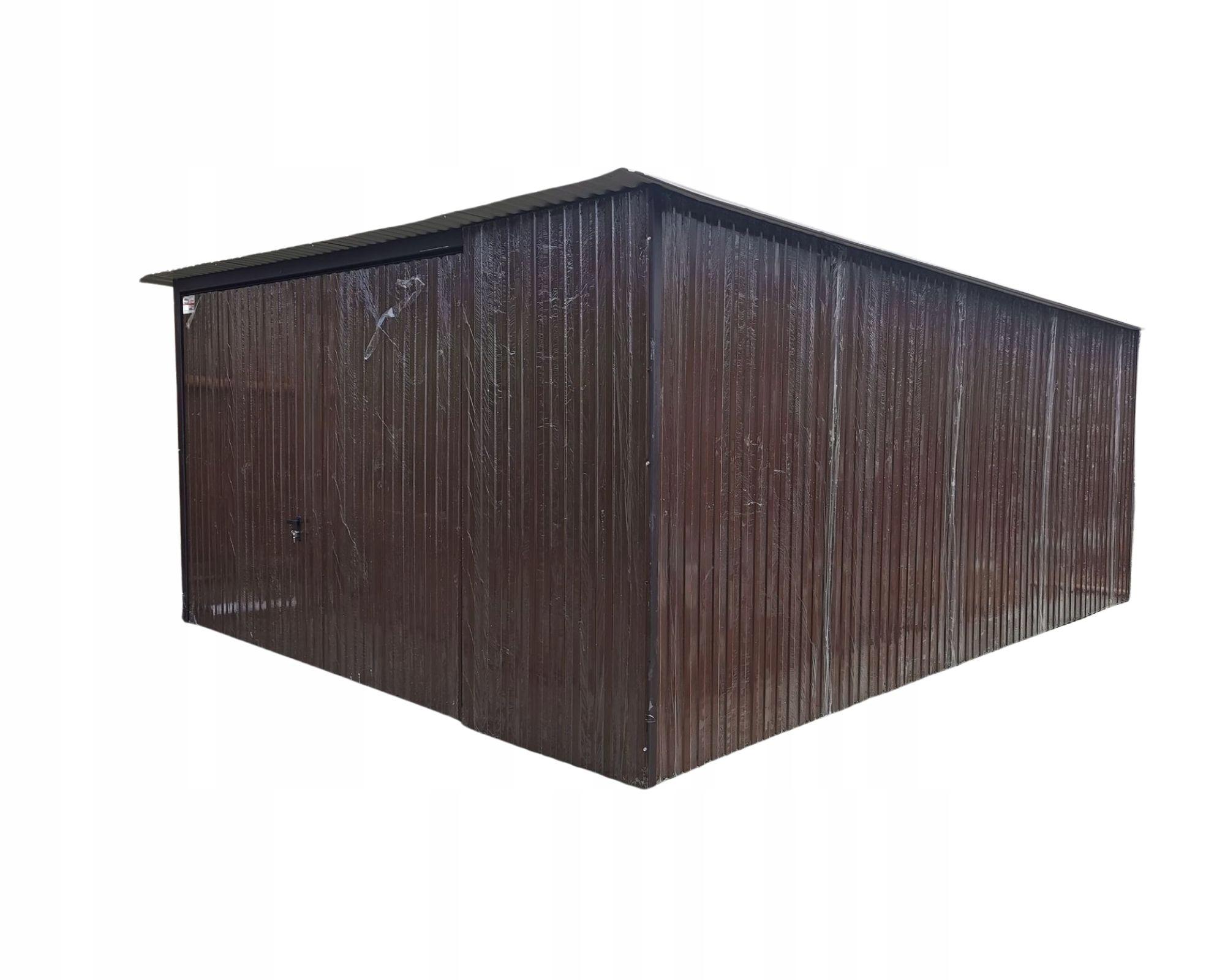 Жестяной гараж 4х5, бронза