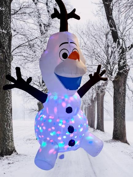 SNOWMAN OLAF NAFUKOVATEĽNÝ PROJEKTOR ŽIARENIA LED DEKORÁCIA Výrobný kód DABPD1367101112V