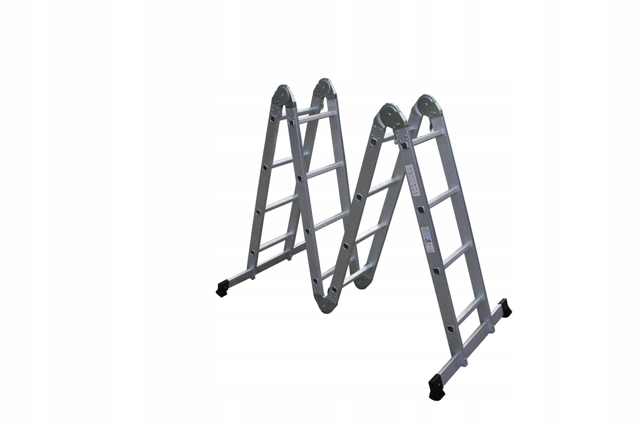 Drabina aluminiowa 4x4 przegubowa uniwersalna 5,3m