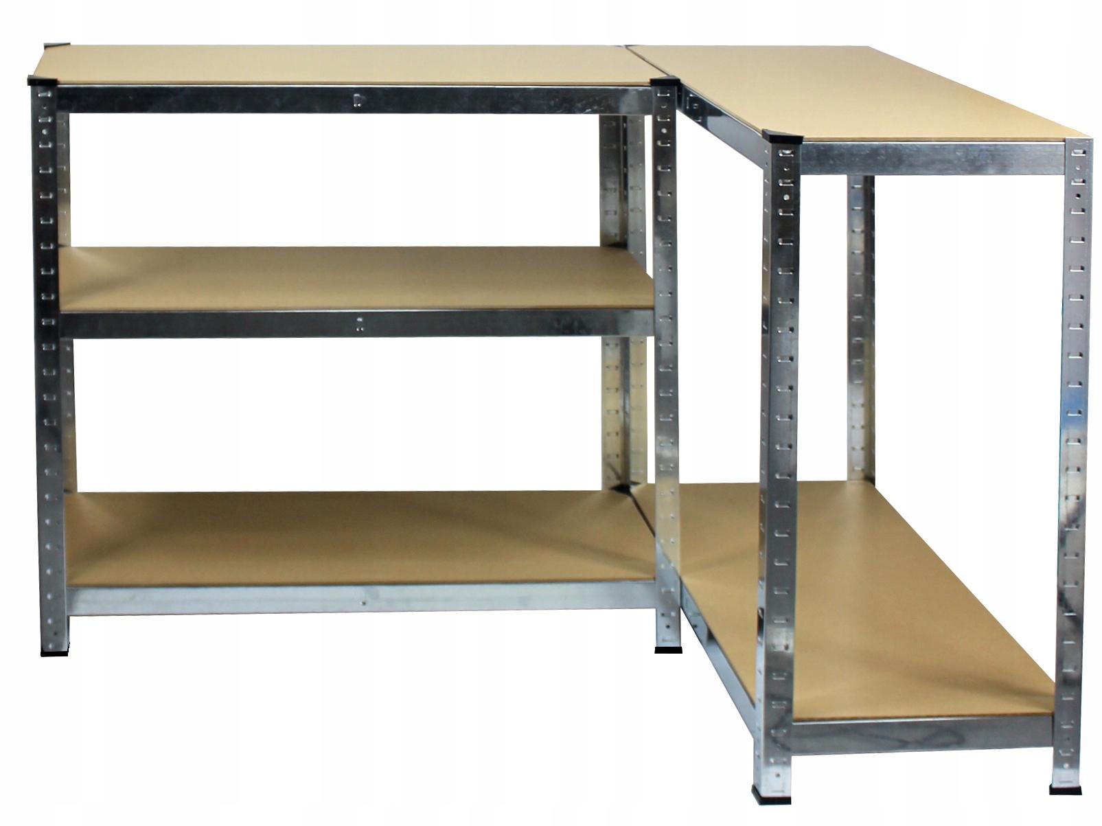 REGAŁ MAGAZYNOWY GARAŻOWY METALOWY 90x40x180 875kg Materiał wykonania półki półka z płyty MDF