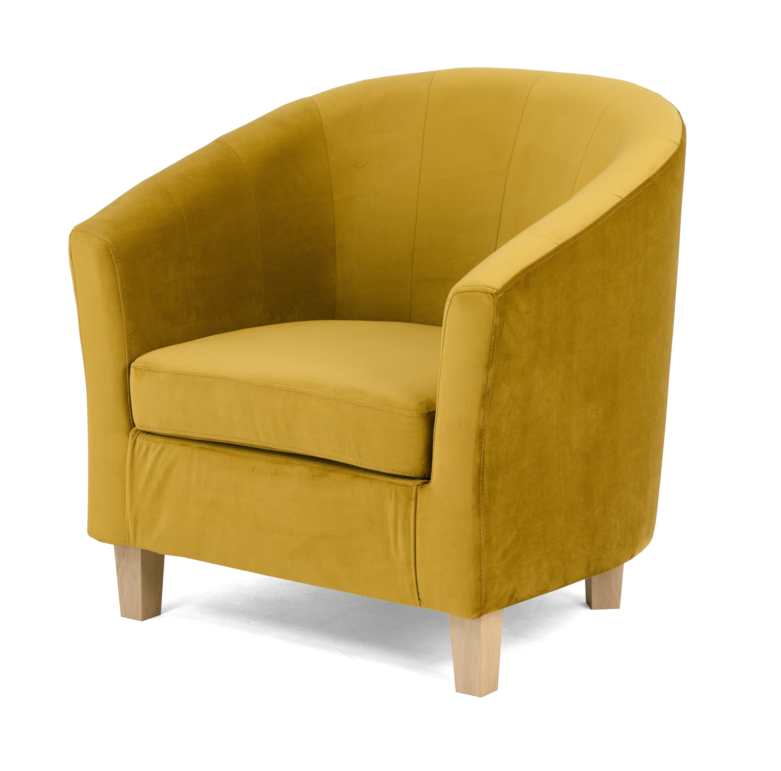 Комфортное велюровое кресло-ковш Tiffany Club