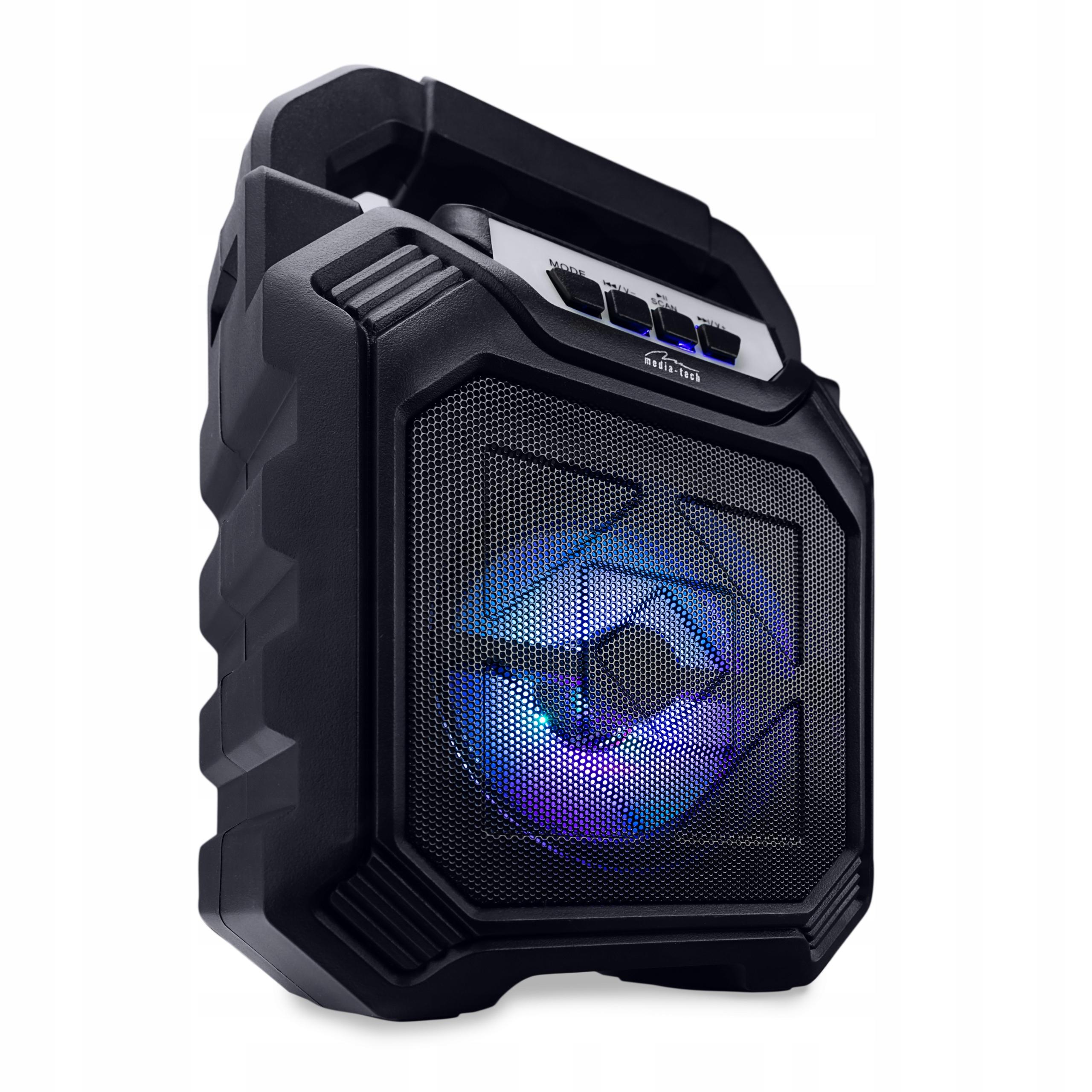RADIO FM PRZENOŚNE Z ODTWARZACZ MP3 USB SD BT 280W