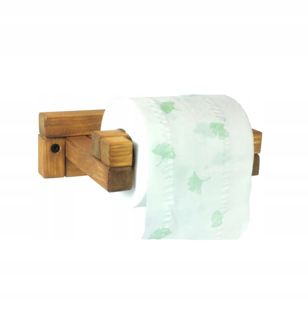 Drewno reling na papier toaletowy łazienka WC HIT!
