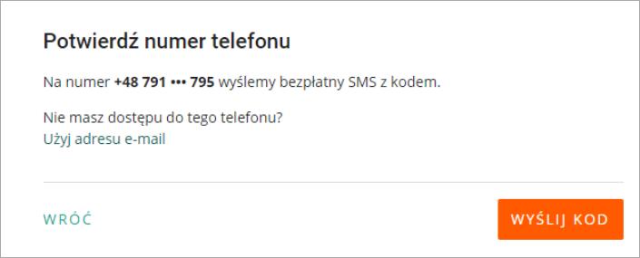 potwierdz numer z email