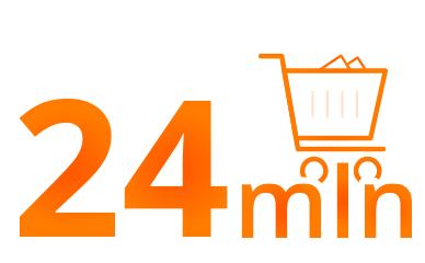 24 mln transkacji na allegro