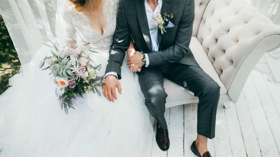 Ciemnozielony garnitur ślubny