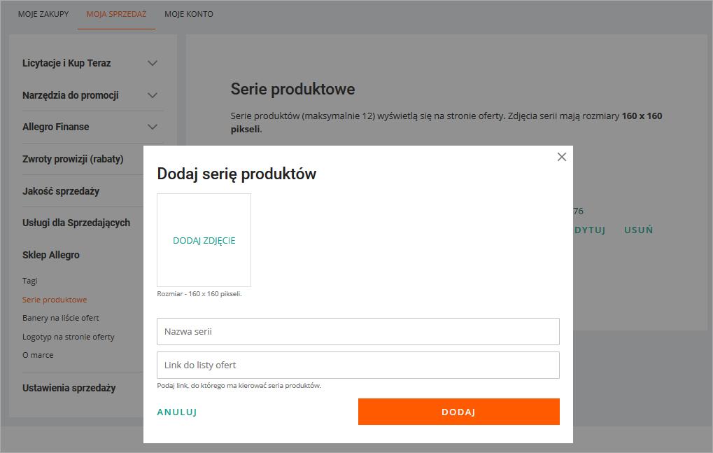 Czym Sa I Jak Tworzyc Serie Produktowe Pomoc Allegro