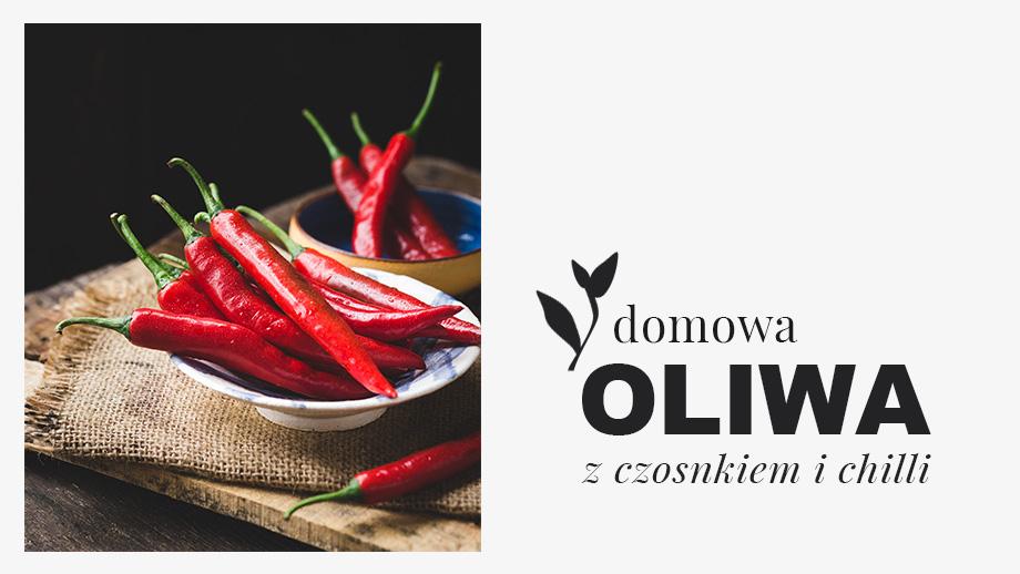 oliwa z czosnkiem i chili