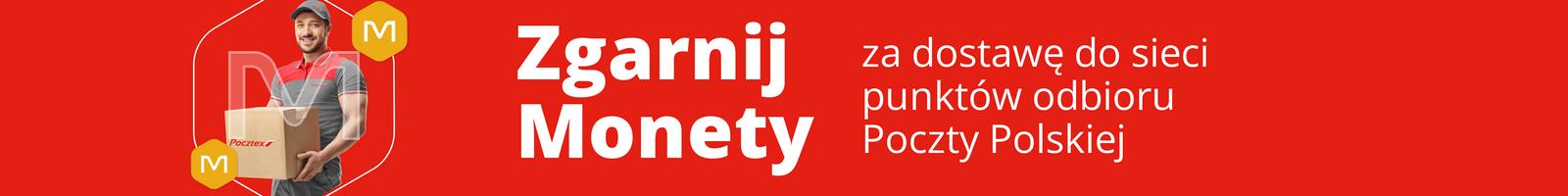 Monety za dostawę do punktów odbioru sieci Poczty Polskiej