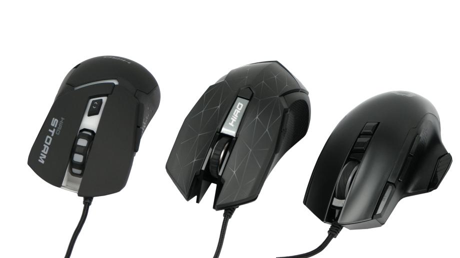 Test porównawczy myszek HIRO: modele Storm, Spider+ i Pegasus
