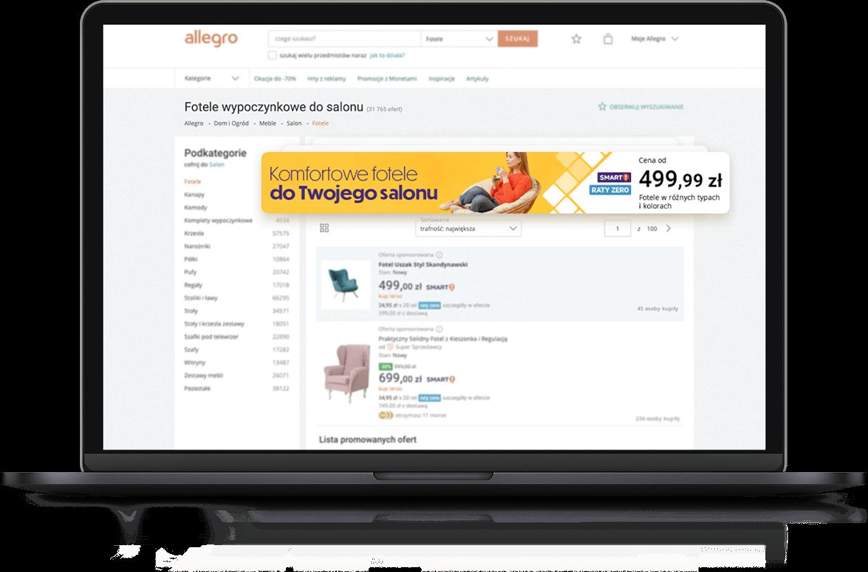 Reklama banerowa Allegro Ads