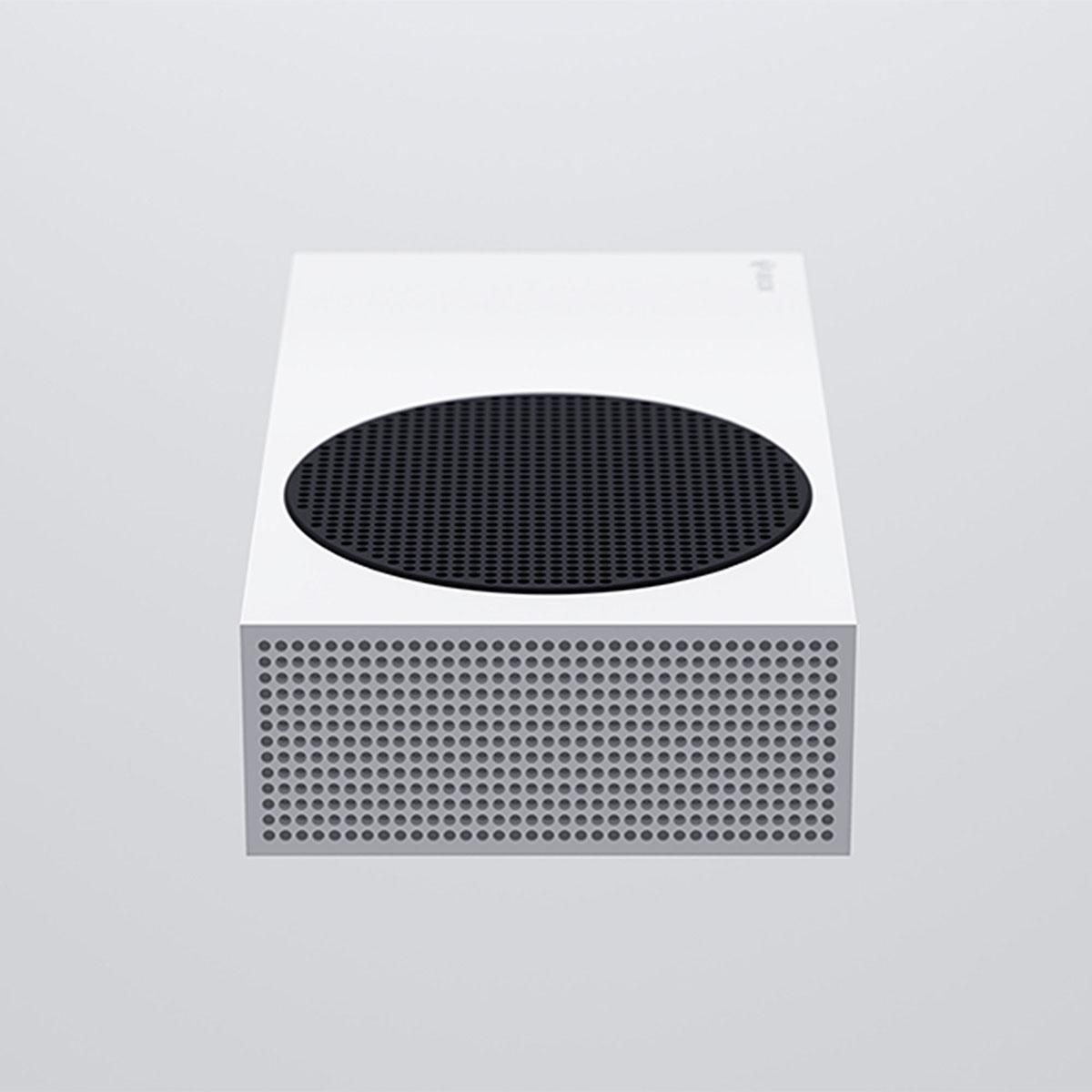 Xbox Series S w pozycji leżącej