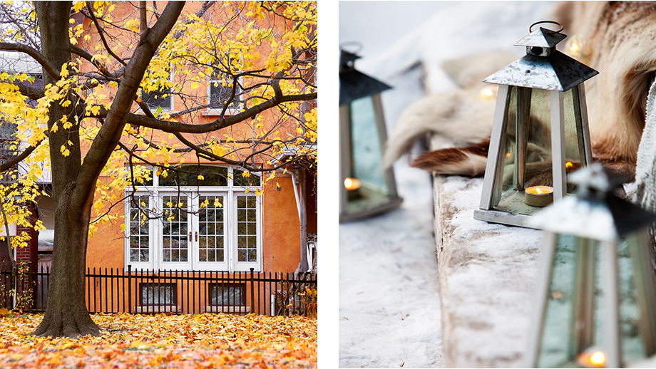 latarenki na jesienny taras
