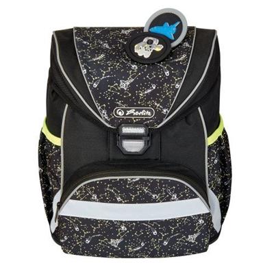 Čierna, ultraľahká taška pre prvotriedny Herlitz s vesmírnou tematikou.  Vhodné aj pre malé deti.