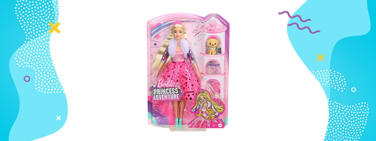 Barbie Princess Adventure Przygody Księżniczek - Lalka księżniczka(GML75)