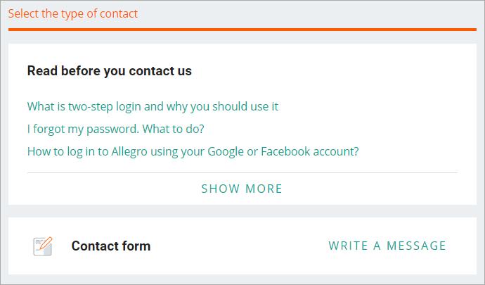 How To Contact Allegro Allegro Help Center