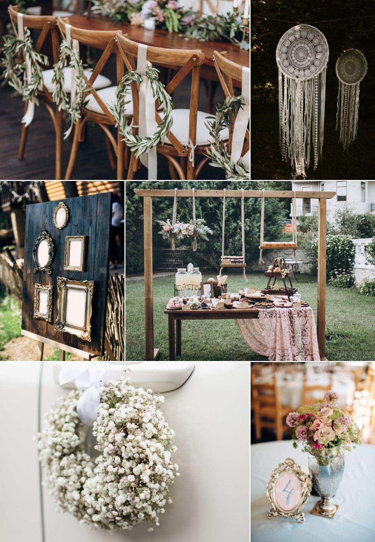 Przegląd najmodniejszych dekoracji ślubnych DIY