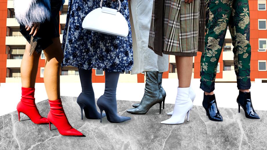 Skarpetkowe szpilki - ekstrawaganckie buty na SS19