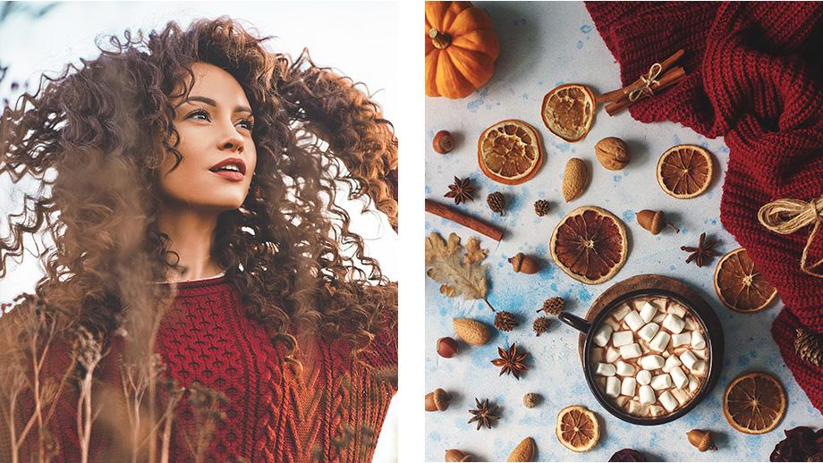pled swetrowy na jesienny taras