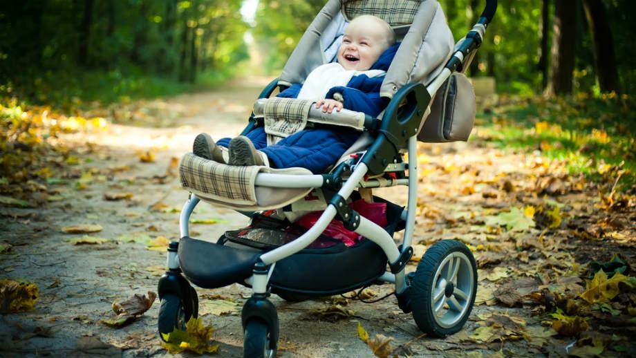 Wózki dziecięce z obrotowymi kołami