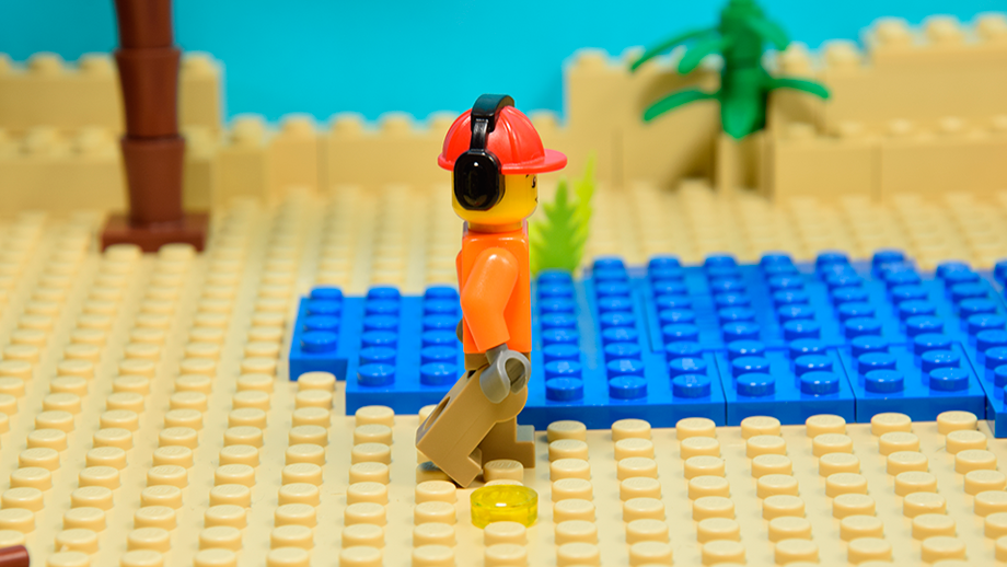 Lego figúrka - zadná noha