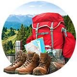 aktywna wiosna czerwony plecak