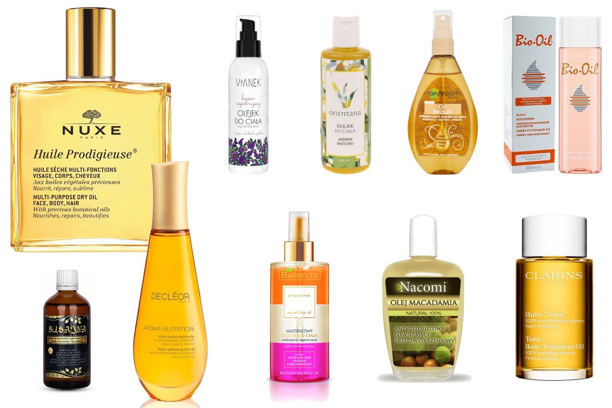TOP 10 olejków do pielęgnacji ciała