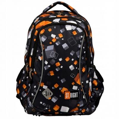 Lacný prvotriedny batoh pre chlapca v trendy geometrickom vzore.  Ľahký, odolný a priestranný.  Batoh St.Right je kvalitný za nízku cenu.