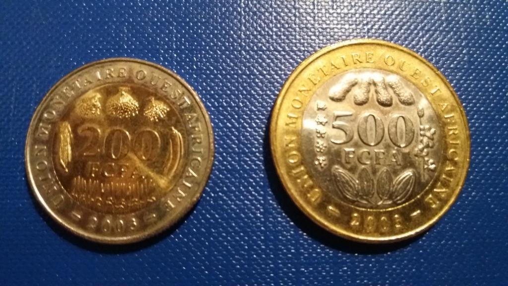 Afryka Zachodnia 200 i 500 franków 2003 r