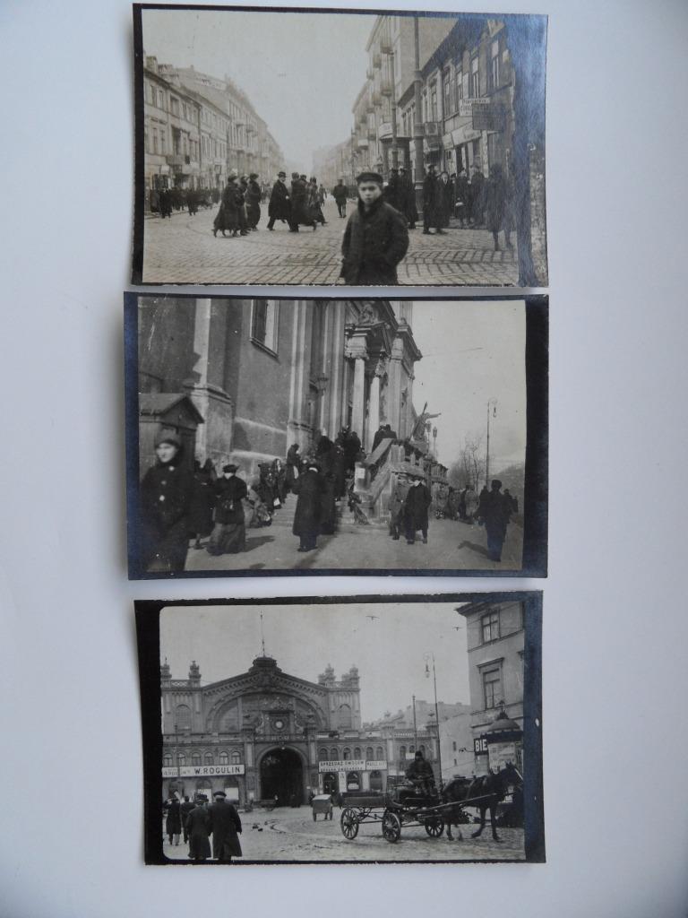 WARSZAWA 3 zdjęcia Hala Mirowska Żydzi na Nalewki