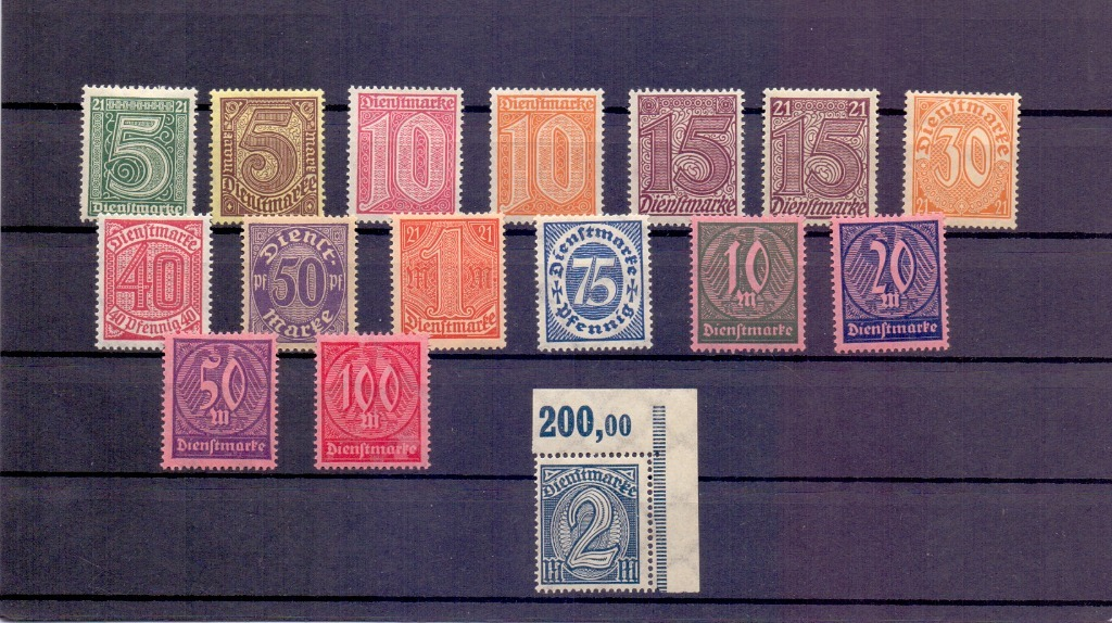 Niemcy znaczki urzędowe zestaw z gumą czyste*