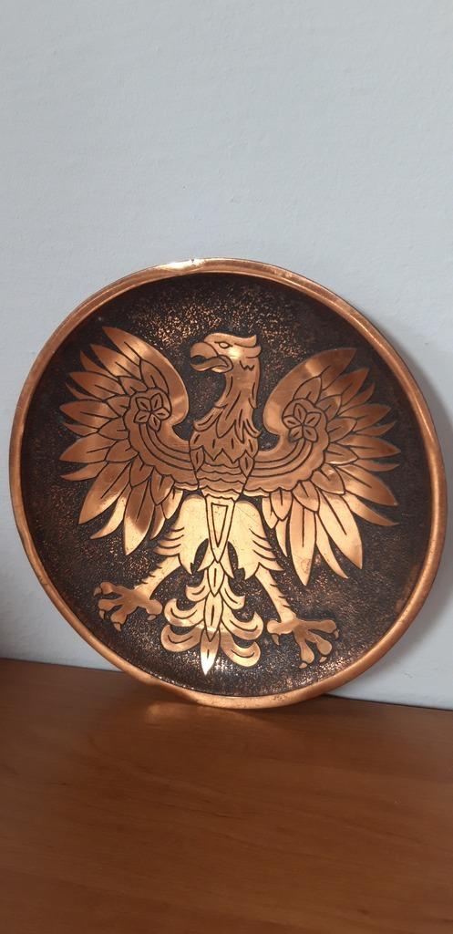 Item Plate pnrm. the emblem of an eagle without a crown souvenir copper