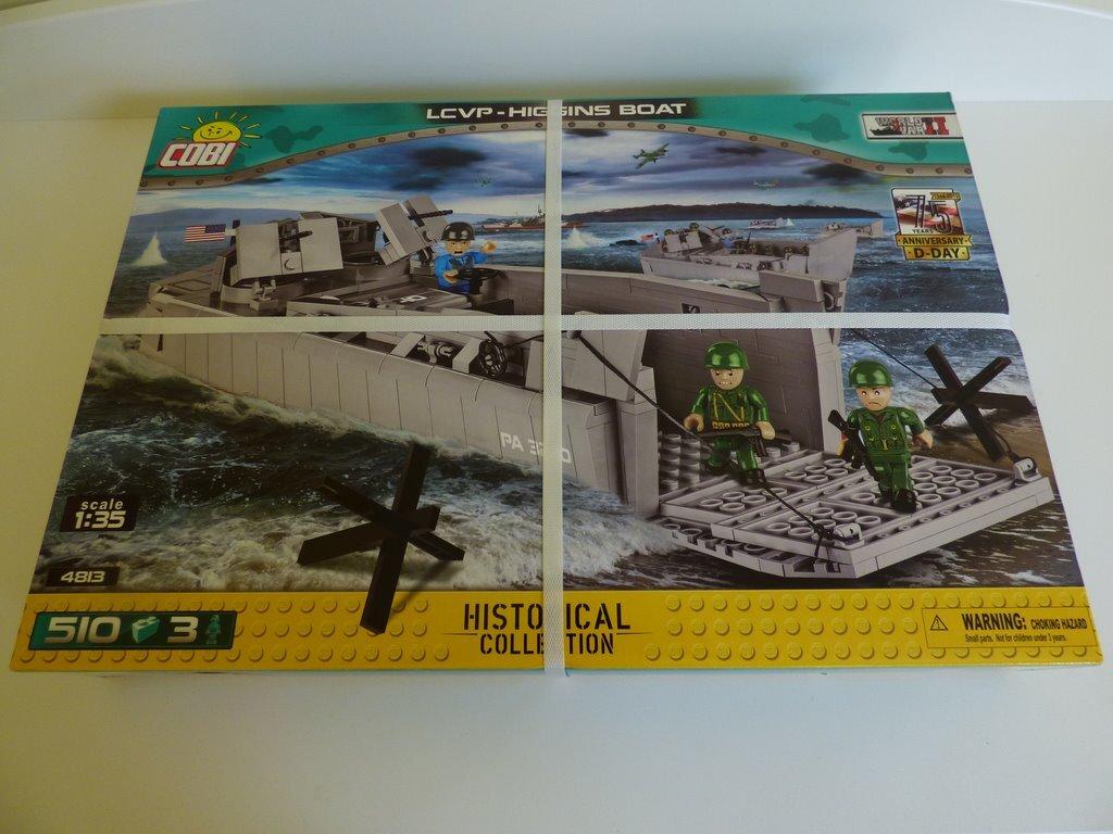 Cobi 4813 LCVP Higgins Лодка баржа - 510 блоков