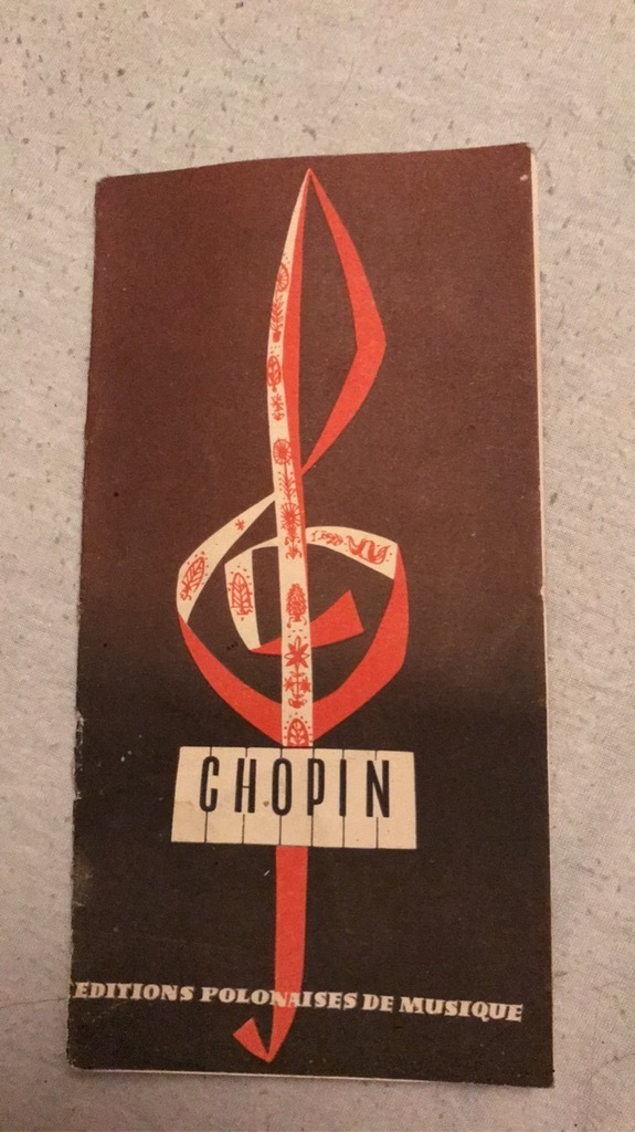 Ulotka Fryderyk Chopin 1936r