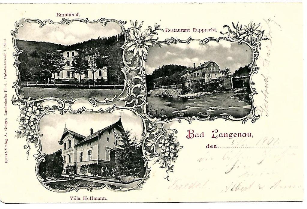 Długopole Zdrój, (Bad LANGENAU), 1901 rok.