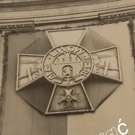 Lwów Krzyż Obrony Lwowa 1931 II RP Oryginał  K1