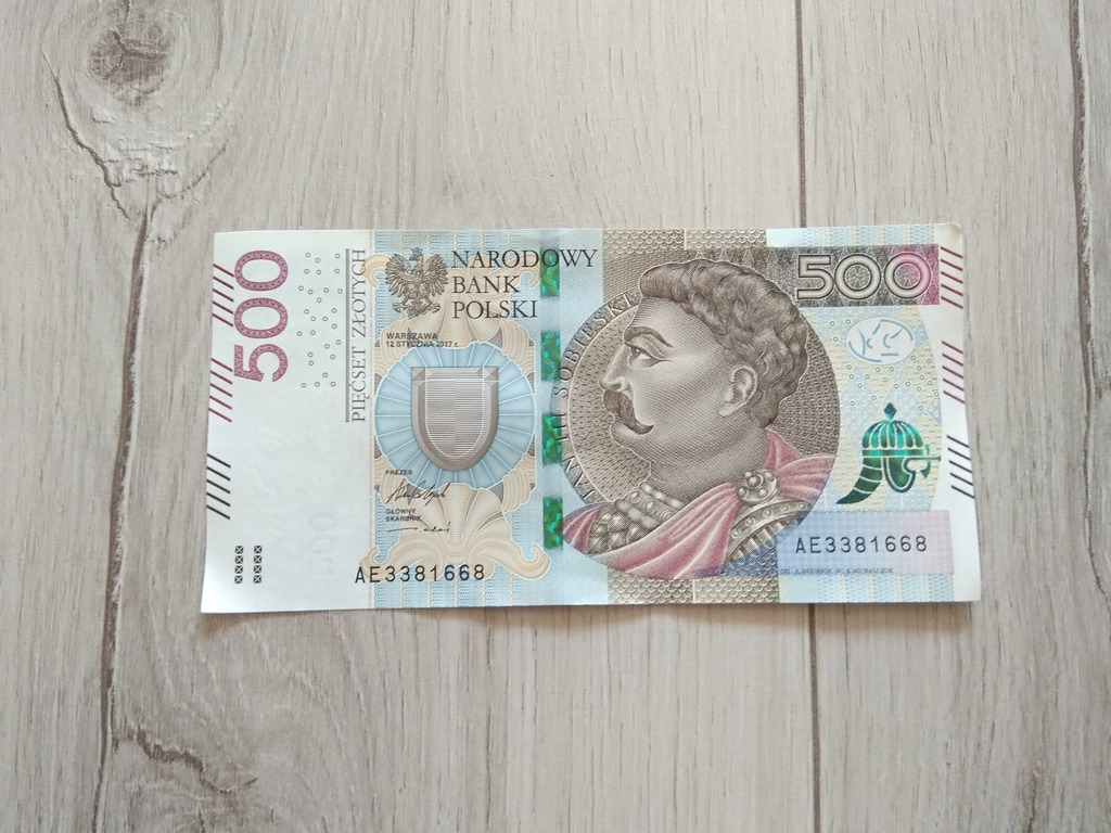Banknot Nbp 500 Zl Jan Iii Sobieski Kup Teraz Za 610 00 Zl Pinczow Allegro Lokalnie