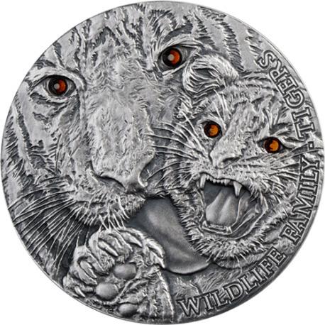 Niue Island 2013 1$ Wildlife Family - Tigers 1oz