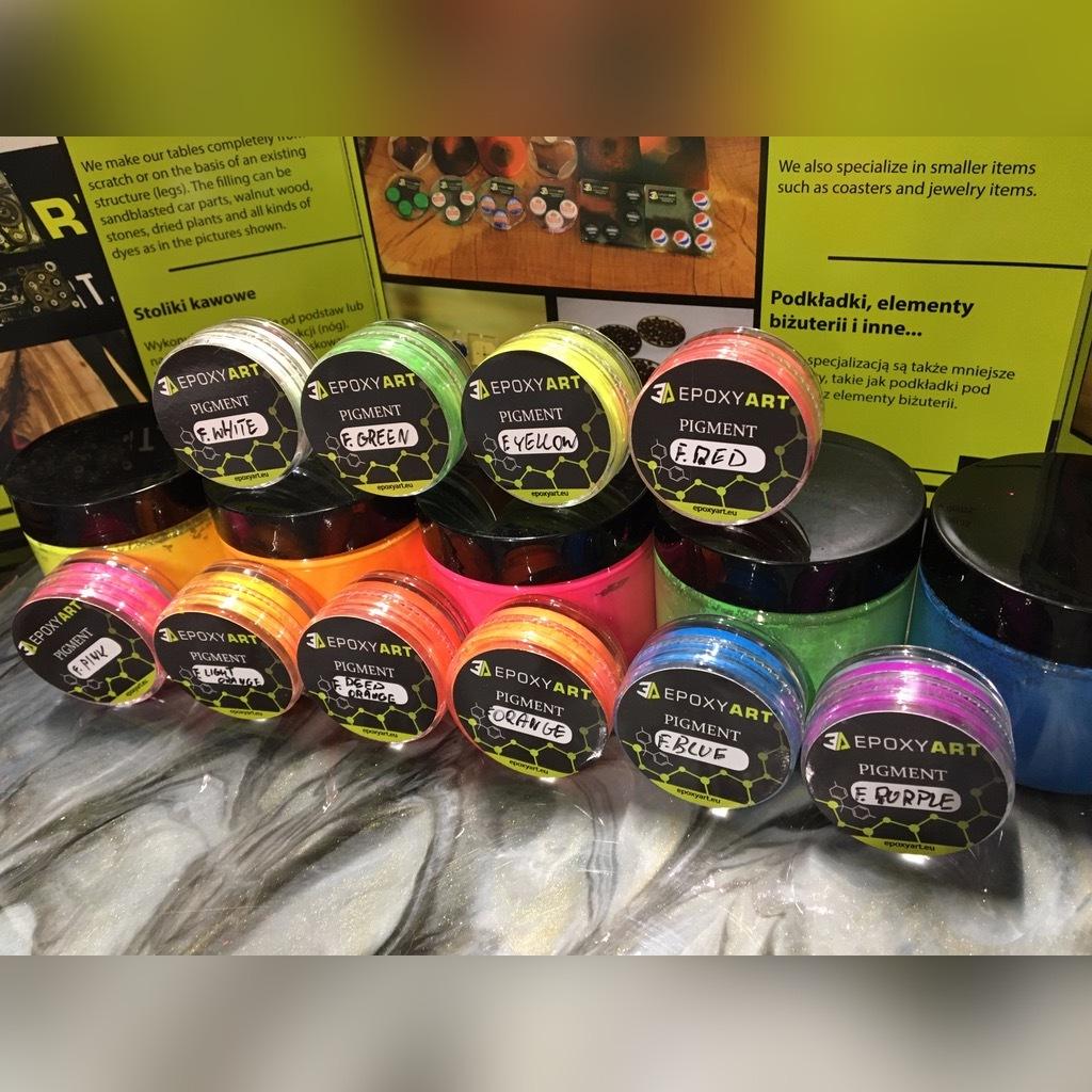 Barwnik pigment do żywica, Fluorescencyjne 5g