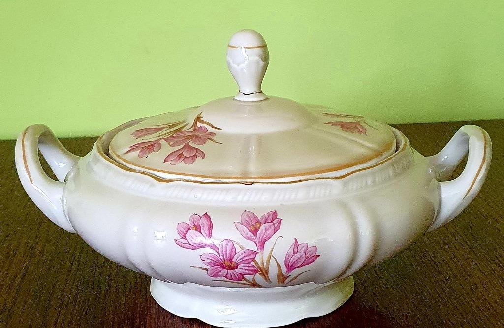 Stara porcelanowa waza do zupy syg. MCP 1890 antyk