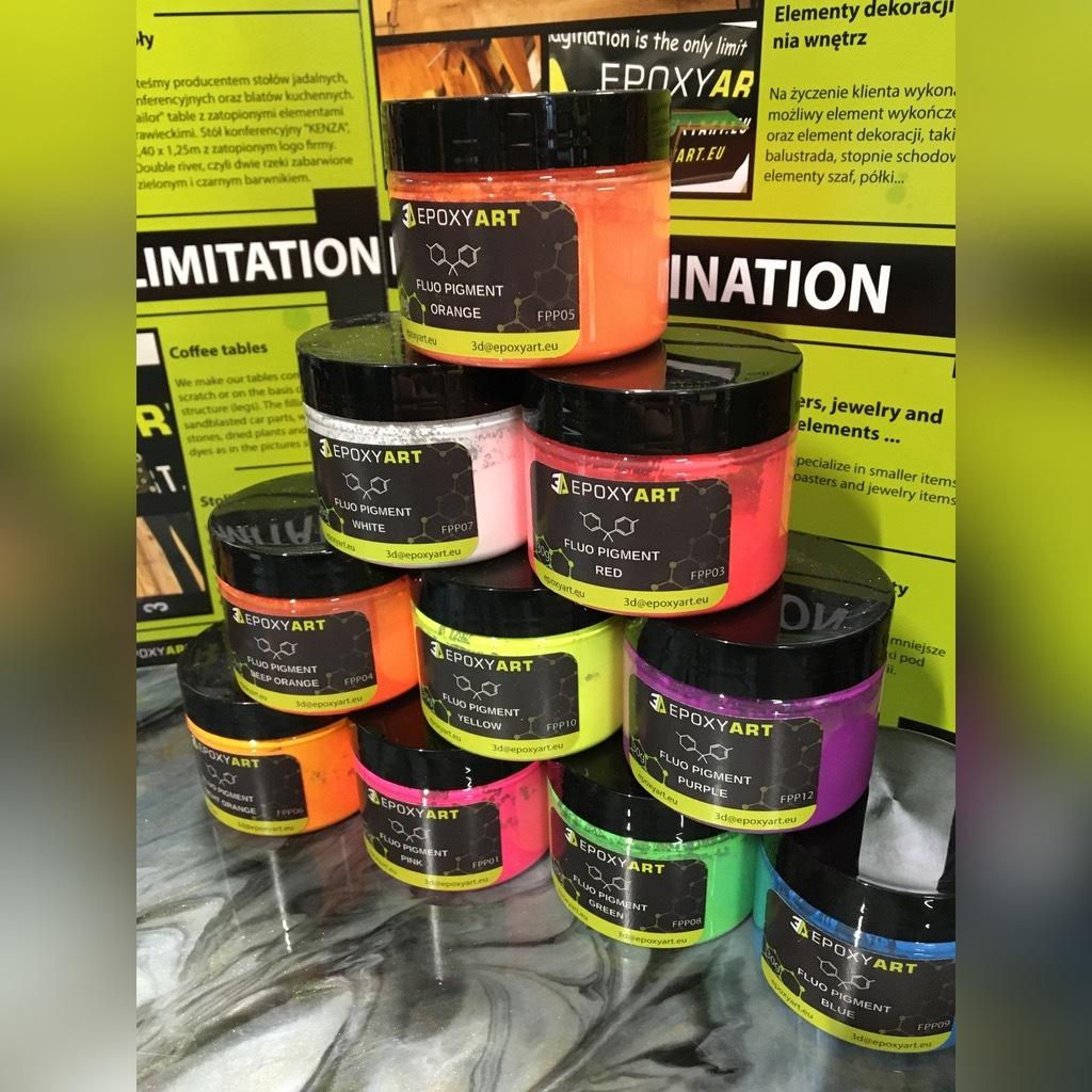 Barwnik pigment do żywica, Fluorescencyjne 30g