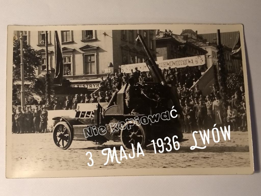 Открытка Армия 3 мая 1936 г. Львов Оригинал