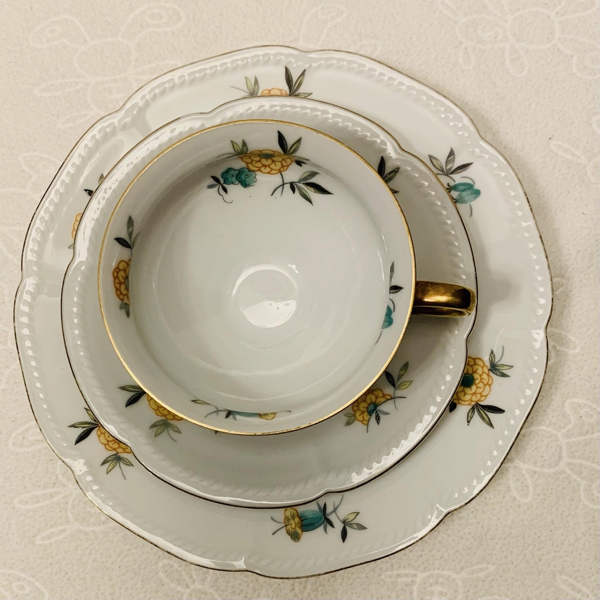 Porcelanowy komplet śniadaniowy, Seltmann Weiden