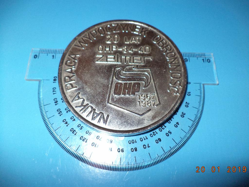 Medal - 20 lat OHP - ZELMER - relikt PRL