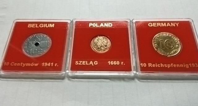 Zestaw monet 1660 r. 1939 r. 1941r.