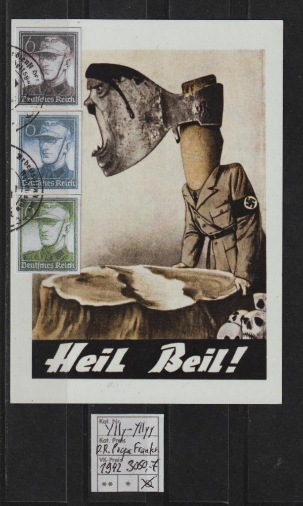 Niemcy D.Reich Mi.Nr. YIIY-YIIYY na Karta spra.BPP