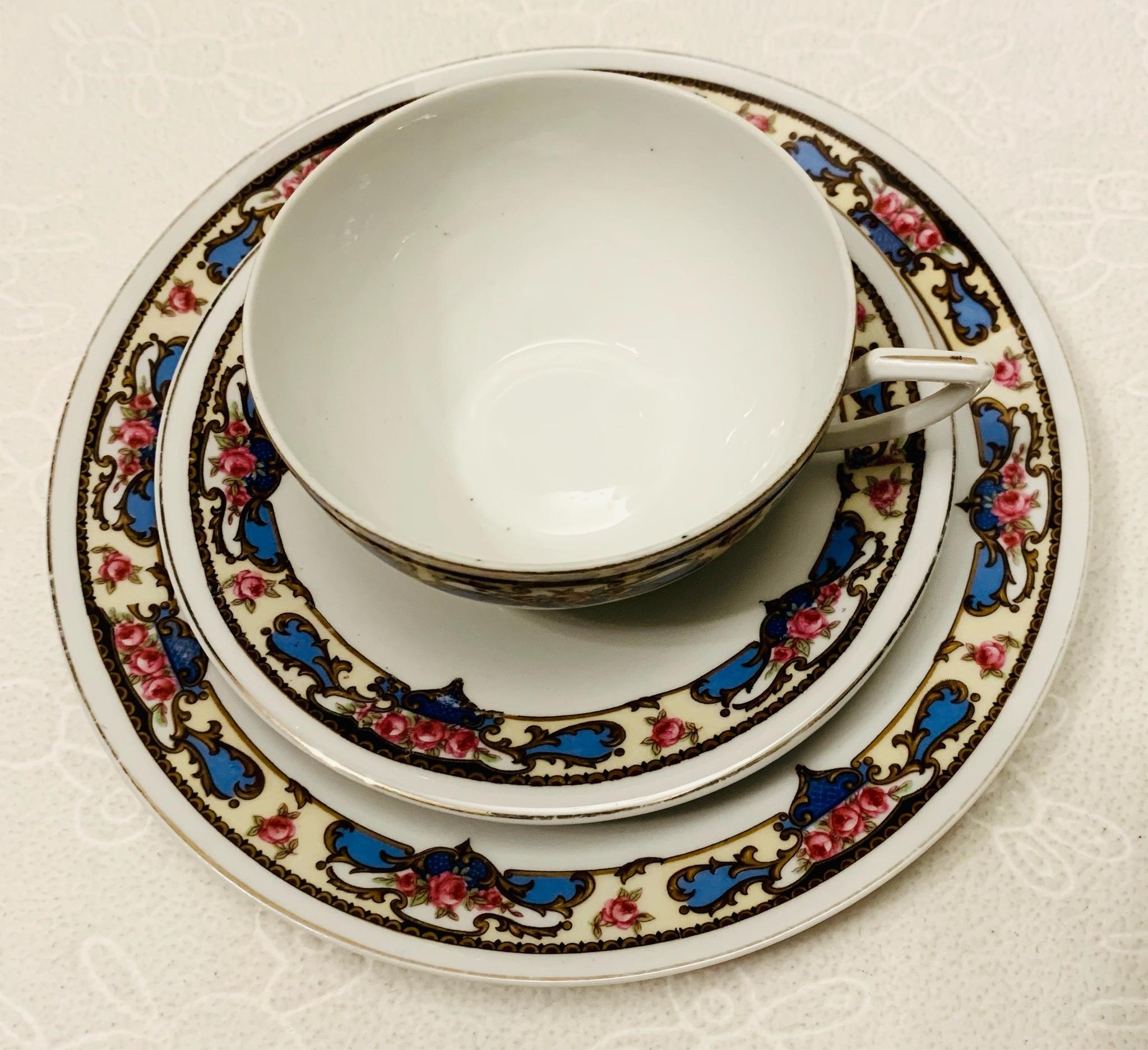 Giesche 1929-1934 porcelana, komplet śniadaniowy
