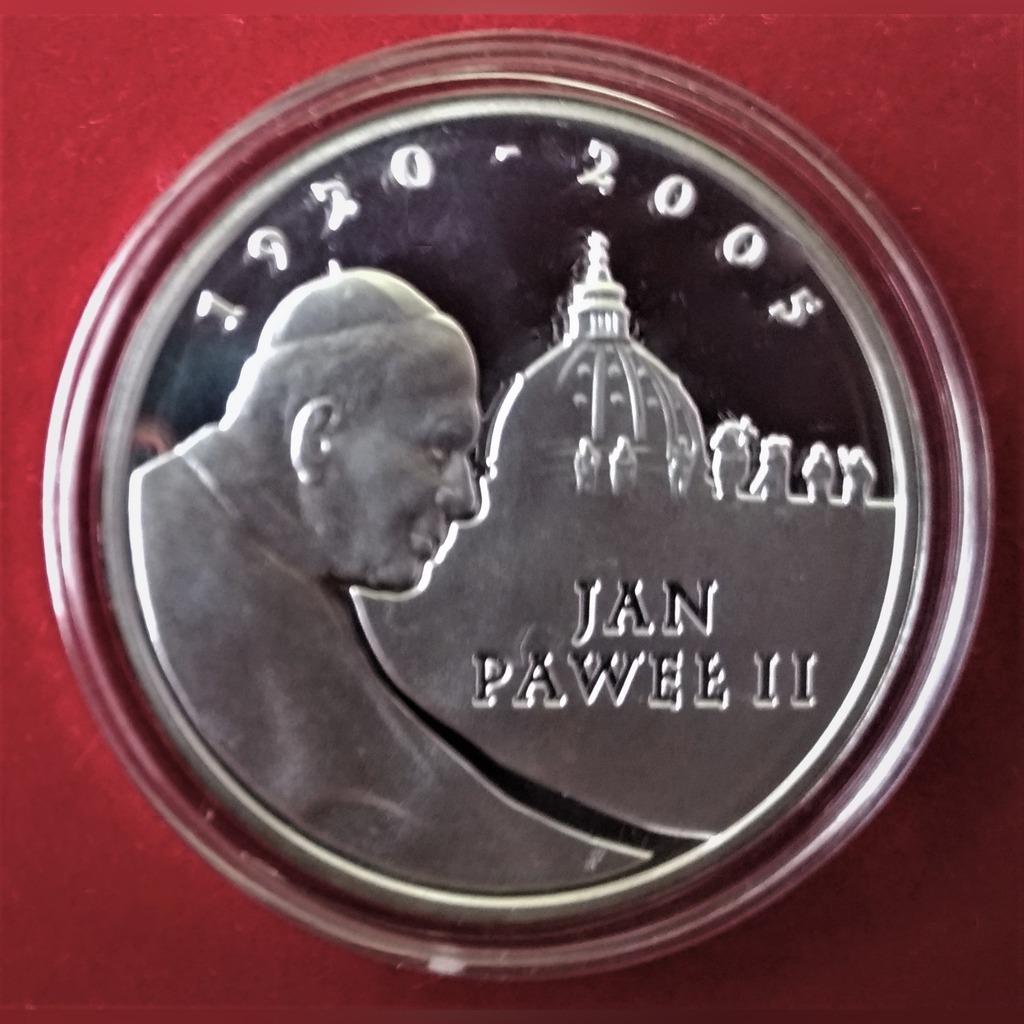 Jan Paweł II - srebrna moneta kolekcjonerska 2005