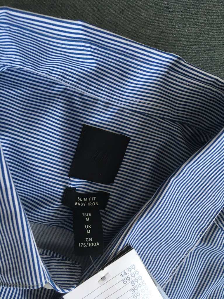 2x koszula męska H&M. Nowe. Size M. Wysyłka gratis Kup  VnpcJ