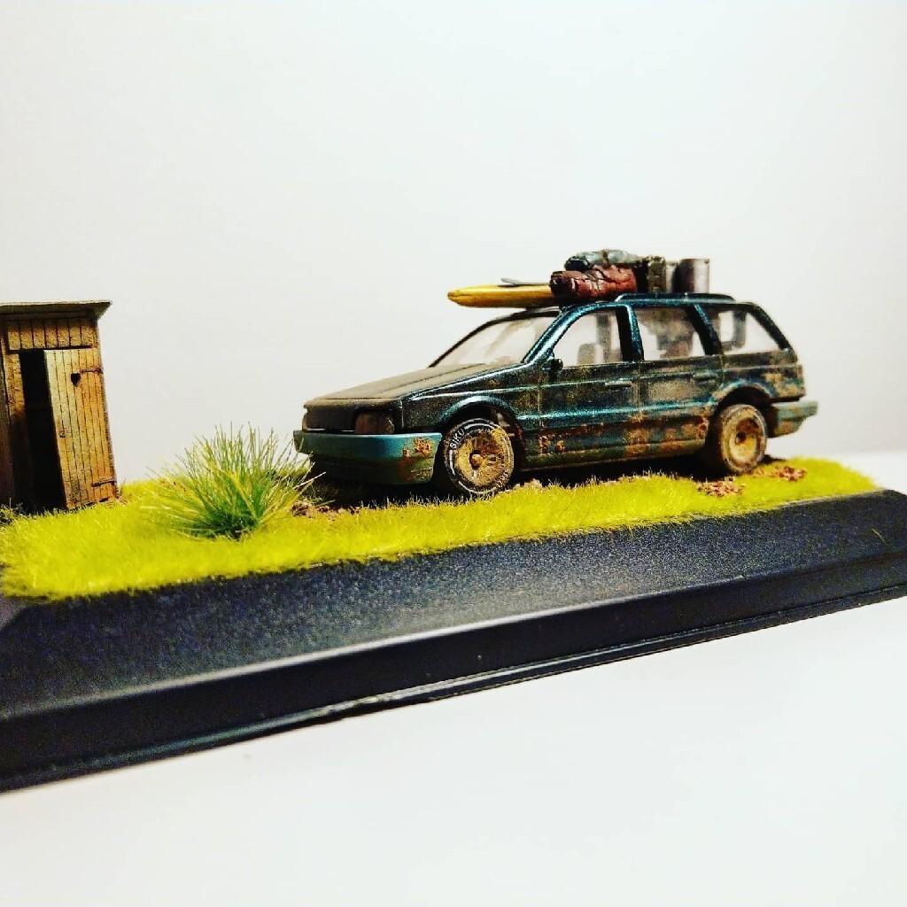 Diorama VW Passat GT Gadżet Resorak Gablotka